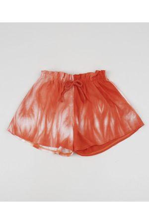 PALOMINO Menina Bermuda - Short Infantil Tie Dye Laranja