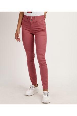 Clockhouse Calça Jeans Skinny Cintura Média Escuro