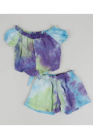 BABY CLUB Conjunto Infantil Tie Dye de Blusa + Short Multicor