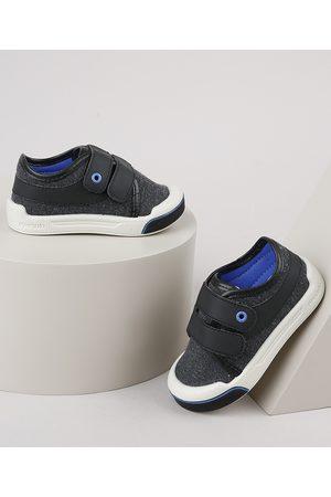 Pimpolho Tênis Infantil com Velcro e Recorte Chumbo