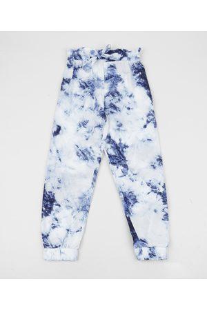 PALOMINO Menina Calça Infantil Clochard Estampada Tie Dye Azul