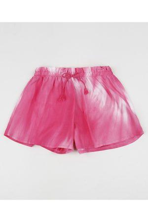 PALOMINO Short Infantil Tie Dye Rosa