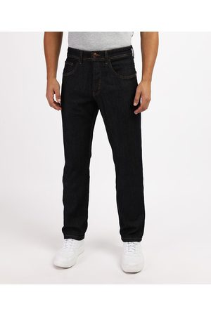 ANGELO LITRICO Homem Calça Jeans Reta - Calça Jeans Masculina Reta Escuro