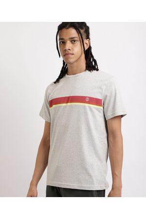 Suncoast Homem Manga Curta - Camiseta Masculina com Listras Manga Curta Gola Careca