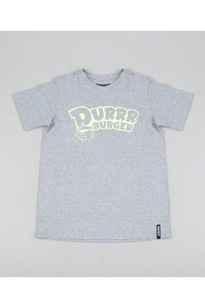 Fortnite Camiseta Juvenil Durrr Burger Manga Curta Mescla