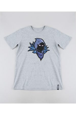 Fortnite Camiseta Juvenil Corvo Manga Curta Mescla