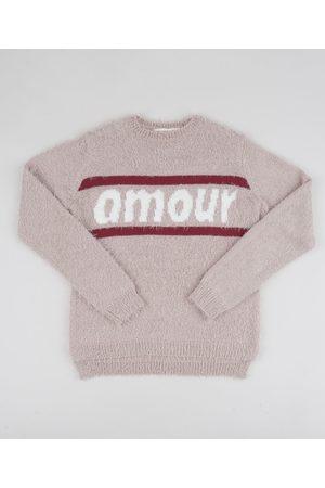 "Fifteen Suéter de Tricô Juvenil Amour"" Claro"""