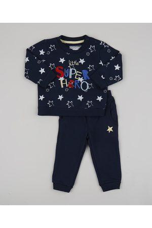 BABY CLUB Conjunto Infantil Super Herói de Blusão + Calça em Moletom