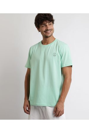 "Clockhouse Camiseta Masculina Símbolo da Paz"" Manga Curta Gola Careca Claro"""