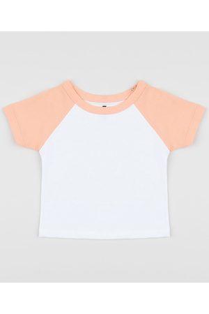 BABY CLUB Menino Manga Curta - Camiseta Infantil Básica Manga Curta Raglan