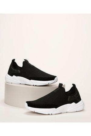 Oneself Mulher Sapatos - Tênis Feminino Knit com Recorte em Suede