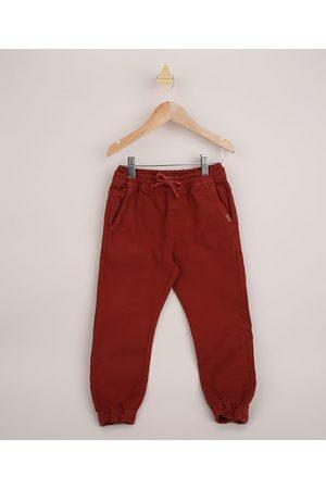 PALOMINO Calça de Sarja Infantil Jogger com Cordão Vermelha