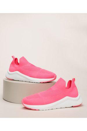 Oneself Mulher Tênis - Tênis Feminino Texturizado Knit Pink