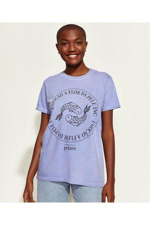 Mindse7 T-Shirt Feminina Mindset Obvious Signos Peixes Manga Curta Decote Redondo