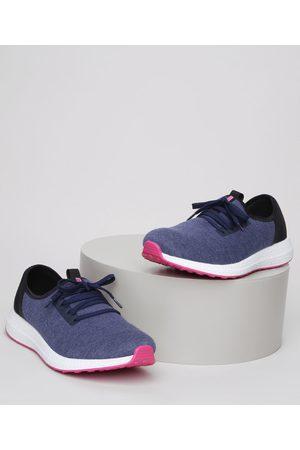 Actvitta Mulher Sapatos - Tênis Feminino Esportivo com Recorte em Tela Escuro