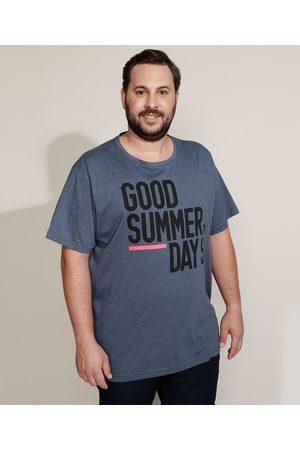 "Suncoast Homem Manga Curta - Camiseta Masculina Plus Size Good Summer Days"" Manga Curta Gola Careca """