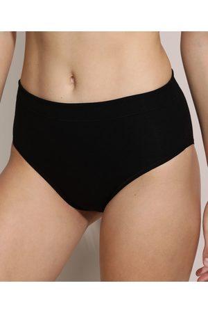 Love Secret Mulher Modeladoras & Cintas - Calcinha Biquíni Modeladora Cós Alto Confort Preta
