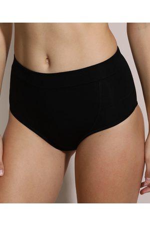 Love Secret Mulher Bikini - Calcinha Biquíni Cós Alto Classic Antibacteriano Preta