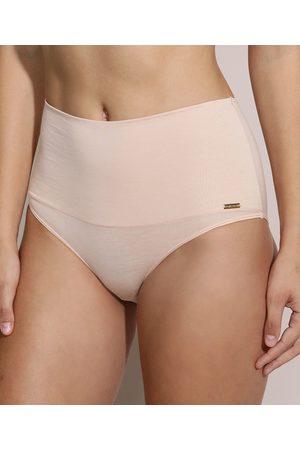 Love Secret Mulher Modeladoras & Cintas - Calcinha Biquíni Cós Alto Max Confort Modeladora Claro
