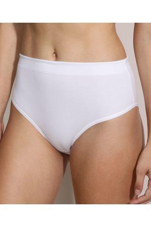 Love Secret Calcinha Biquíni Modeladora Cós Alto Confort Branca