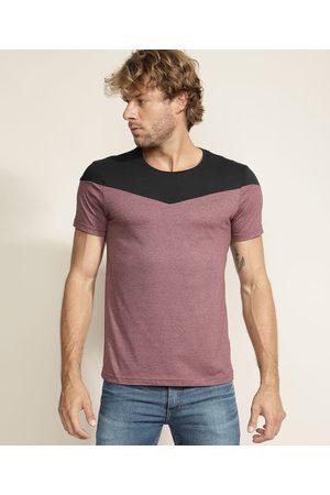 AL Contemporâneo Homem Manga Curta - Camiseta Masculina com Recorte Manga Curta Gola Careca