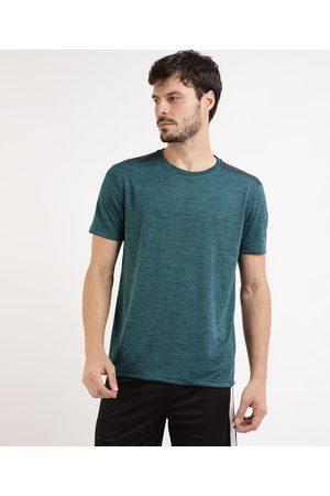 ACE Camiseta Masculina Esportiva Com Recorte Manga Curta Gola Careca