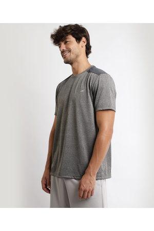 ACE Homem Manga Curta - Camiseta Masculina Esportiva com Recorte Manga Curta Gola Careca Mescla