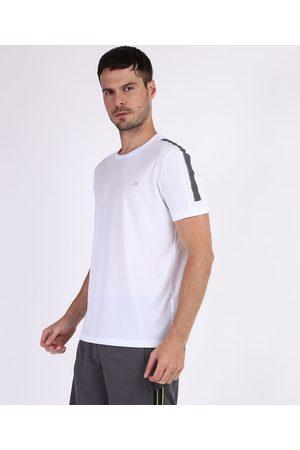 ACE Camiseta Masculina Esportiva Manga Curta Branca