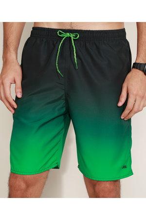 ACE Bermuda Masculina Esportiva Estampada Degradê com Cordão Verde
