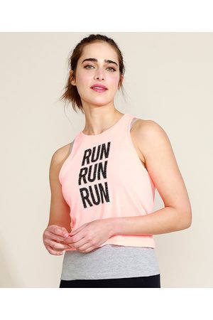 "ACE Mulher Camiseta - Regata Feminina Esportiva Run"" Decote Redondo Coral"""