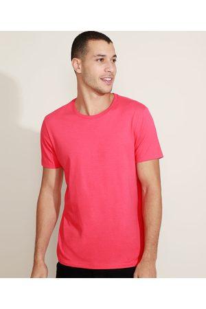 Basics Camiseta Masculina Básica Manga Curta Gola Careca Vermelha