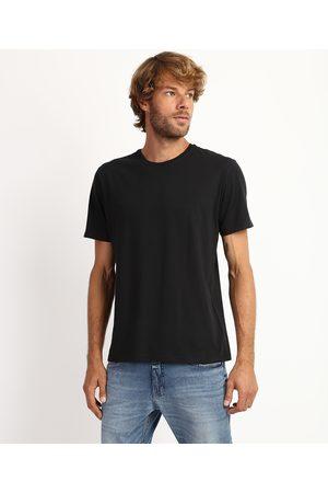 Basics Camiseta Masculina Antiviral Básica Manga Curta Gola Careca Preta
