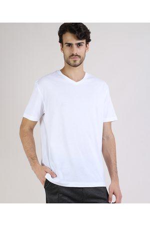 Basics Camiseta Masculina Básica Manga Curta Gola V