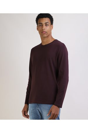Basics Camiseta Masculina Básica Comfort Manga Longa Gola Careca