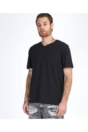Basics Homem Manga Curta - Camiseta Masculina Básica Manga Curta Gola V