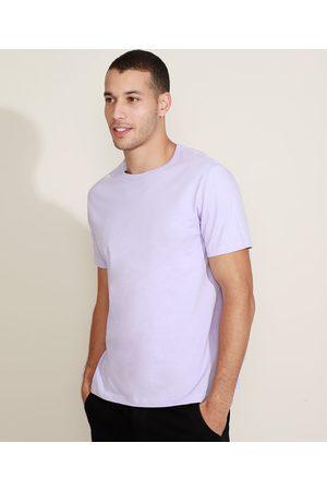 Basics Camiseta Masculina Básica Manga Curta Gola Careca Lilás