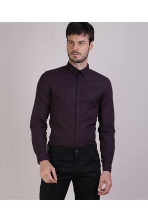 Basics Camisa Masculina Slim Manga Longa