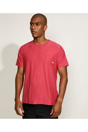 Basics Homem Manga Curta - Camiseta Masculina com Bolso Manga Curta Gola Careca Claro