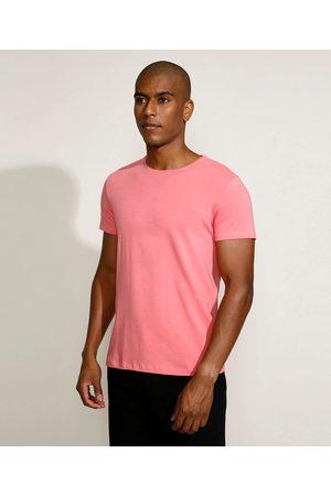 Basics Camiseta Masculina Básica Manga Curta Gola Careca Claro