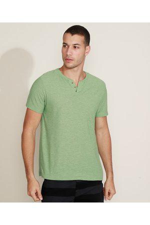 Basics Camiseta Masculina Básica Manga Curta Gola Portuguesa Claro
