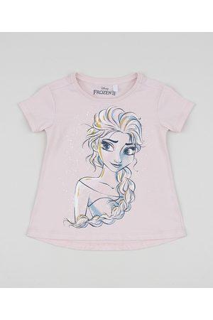Disney Blusa Infantil Elsa Manga Curta