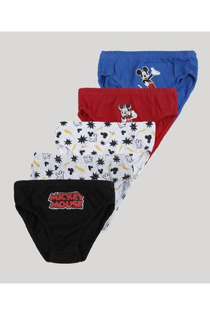 Disney Kit de 5 Cuecas Infantis Si Mickey Multicor