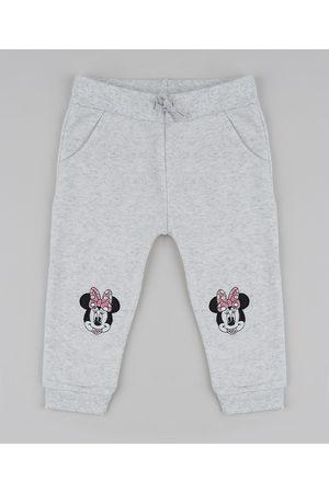 Disney Calça de Moletom Infantil Minnie Mescla Claro