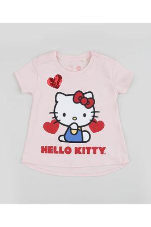 Hello Kitty Blusa Infantil Manga Curta