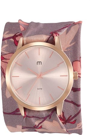 Mondaine Kit de Relógio Analógico Flower Power Feminino + Pulseira - 32024LPMGRD1K