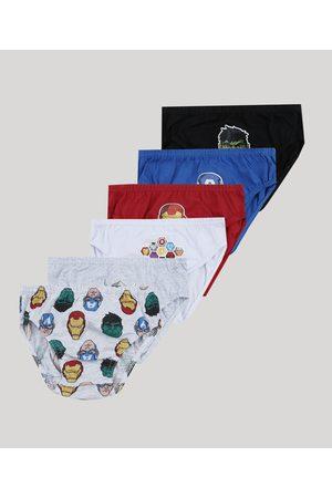Marvel Menino Cuecas - Kit de 7 Cuecas Infantis Os Vingadores Multicor