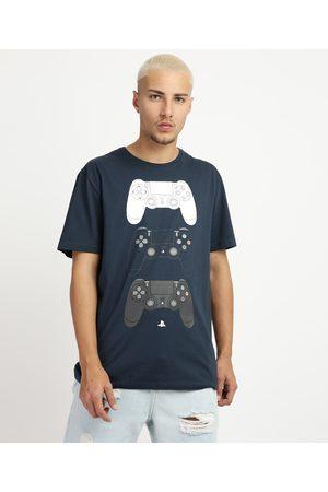 Playstation 3 Camiseta Masculina Manga Curta Gola Careca