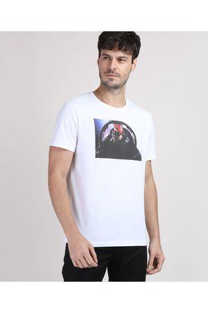 Paramount Camiseta Masculina Top Gun Manga Curta Gola Careca Branca