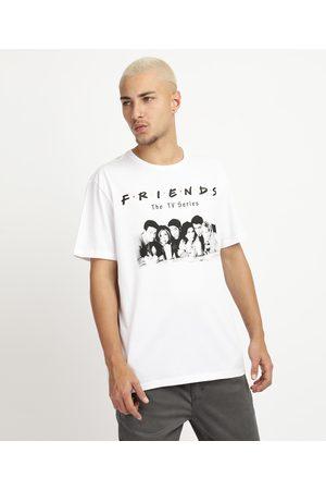 Warner Bros Homem Manga Curta - Camiseta Masculina Friends Manga Curta Gola Careca Branca