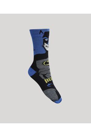 Warner Bros Homem Cuecas - Meia Masculina Cano Alto Batman Royal